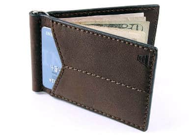 Andar Mens Leather Money Clip Front Pocket Minimalist Card Holder