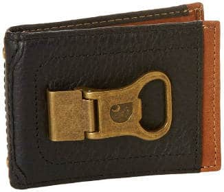 Carhartt Mens Long Neck Wallet with Bottle Opener Money Clip