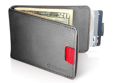 Distil Union Original Wally Bifold Slim Leather Wallet with Money Clip