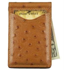 Palm West Leather Top Grain Premium Minimalist Clip Card Holder