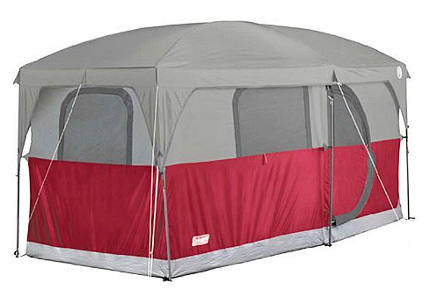 Coleman Hampton 6-Person Family Camping Cabin Tent