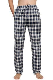Avidlove Men Sleep Bottoms Cotton Plaid Sleepwear Flannel Lounge Pajamas Pants