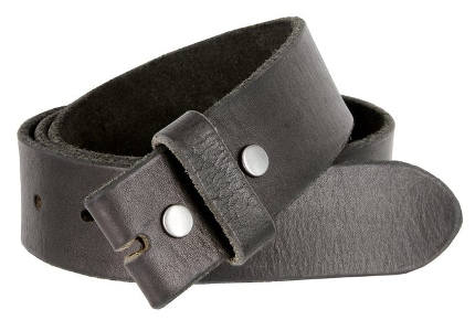 BS-40 Vintage Full Grain 100% Leather Distressed Style Snap on Belt Strap