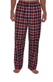 Del Rossa Men's 100% Cotton Flannel Lounge Pajama Bottoms