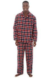 Del Rossa Men's Flannel Pajamas, Long Cotton Pj Set