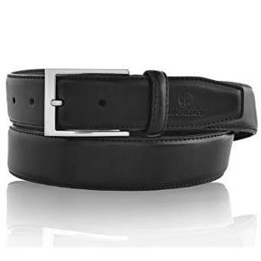 LUCHENGYI Belts for Men Leather Black Classic Belt