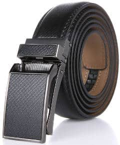 Marino Men's Genuine Leather Ratchet Dress Belt with Linxx Buckle