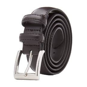 Men's Classic Dress Leather Belt, Black & Brown Colors