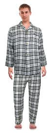 RK Classical Sleepwear Men's 100% Cotton Flannel Pajama Set