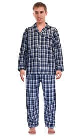 RK Classical Sleepwear Men's Broadcloth Woven Pajama Set
