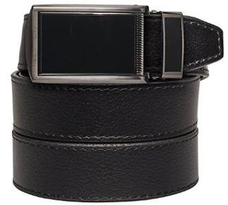 SlideBelts Men's Black Buckle Leather Belt