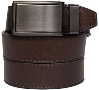 SlideBelts Men's Gunmetal Leather Belt - Custom Fit
