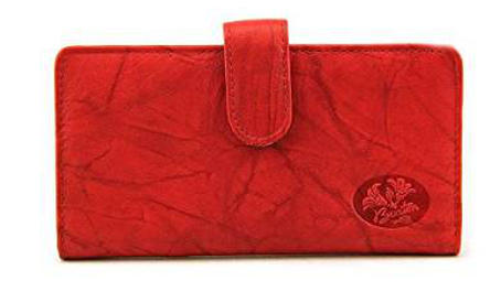 Buxton Leather Heiress Tab Checkbook Cover and Credit Card Holder