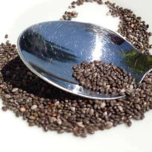 Chia seeds in a smothie