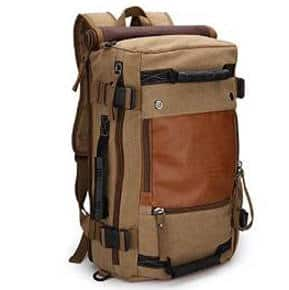 Ibagbar Canvas Backpack Travel and Hiking Bag