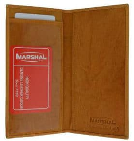 Marshall Basic Leather Checkbook Cover