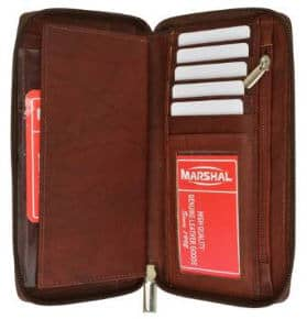 Marshall Genuine Leather Checkbook Cover