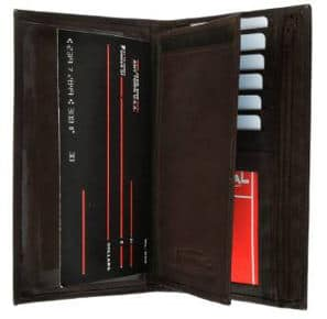 Marshall Leather Checkbook Cover Wallet Organizer With Credit Card Holder