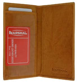 Marshall Wallet Hand Crafted Genuine Soft Leather Checkbook Cover