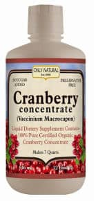 Only Natural Organic Cranberry Concentrate 32 Ounce