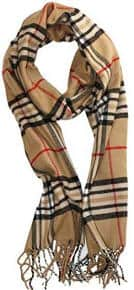 Soft Plaid Check Winter Scarf Warm Unisex