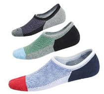 Spikerking Men No Show Cotton Deodorant 3 Pack Crew Socks