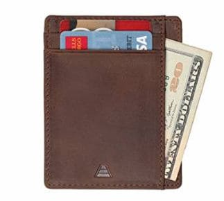 Andar Leather Slim Wallet RFID Blocking Card Holder