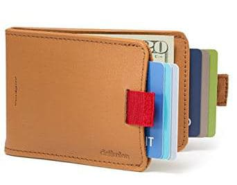 Distil Union Original Wally Slim Leather Bifold Wallet with Money Clip