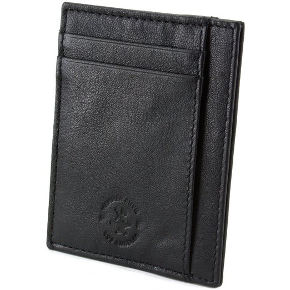 Hammer Anvil RFID SAFE Men's Genuine Leather Minimalist Money Clip-Wallet