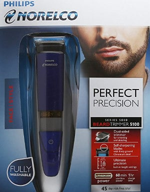 Philips Norelco BeardTrimmer 5100, for beard stubble and mustache