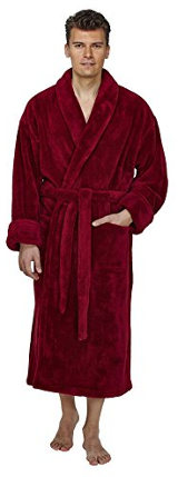 Arus Men's Shawl Fleece Turkish Bathrobe