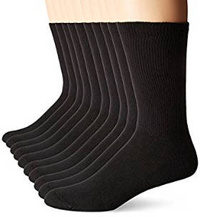 Hanes Men's 10 Pack Ultimate FreshIQ Cushion Crew Socks