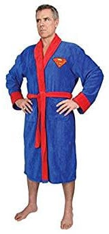 DC Comics Superman Dressing Gown Fleece Bathrobe
