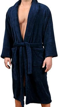 Men's Micro Fleece Bathrobe by Wanted