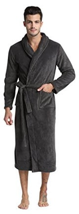 Tony & Candice Men's Fleece Bathrobe