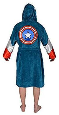 Marvel Comics Universe Captain America Men's Fleece Bathrobe