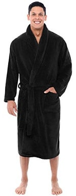 Del Rossa Men's Fleece Robe with Shawl Collar