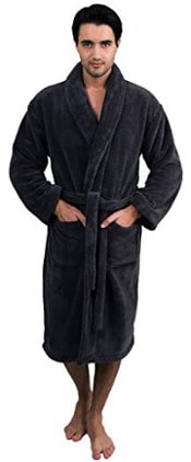 TowelSelections Men's Super Plush Fleece Spa Bathrobe