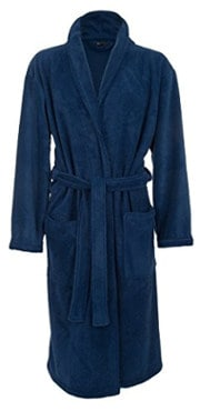 John Christian Men's Fleece Robe (Royal Blue)