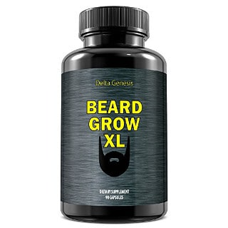 Beard Grow XL Facial Hair Supplement for Thicker Fuller Beard