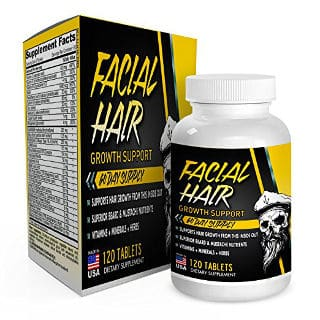 Facial Hair Beard Growth Supplement by Elevate-Recovery
