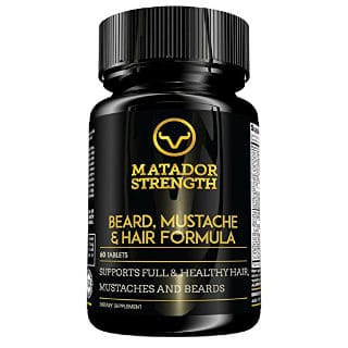 Matador Strength Labs Beard, Mustache, and Hair Growth Vitamin Supplement