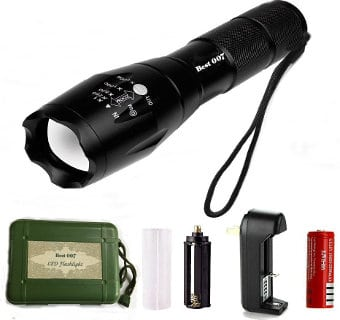 Best OO7 XML T6 LED Tactical Rechargeable Flashlight