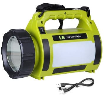 L.E Rechargeable Camping Lantern and Water Resistant Flashlight