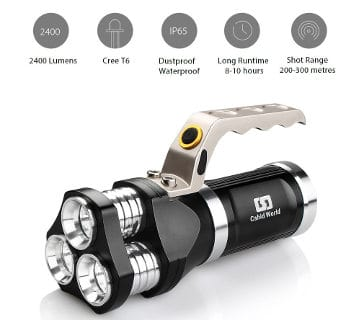 Rechargeable LED Working Lantern Searchlight Tactical Flashlight by Cshid world