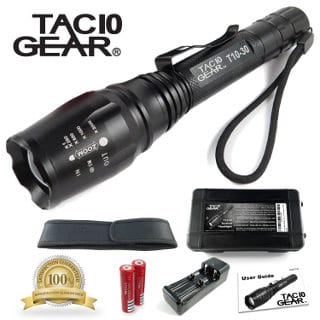 TAC10 Gear CREE XML-T6 Water Resistant LED Flashlight