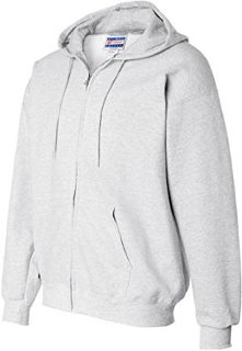 Hanes Men's Full Zip Fleece Hoodie