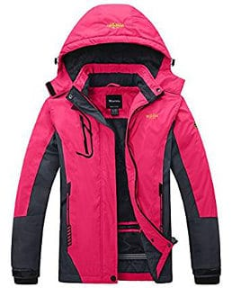 Wantdo Women's Mountain Waterproof Fleece Ski & Rain Jacket