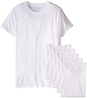 Fruit of the Loom Men's 6 Pack Stay Tucked Crew Neck T-Shirt