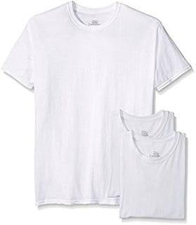 Hanes Men's 3 Pack Crew Neck T-Shirt